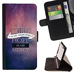 BullDog Case - FOR/Sony Xperia M2 / - / THE EYE OF THE LORD /- Monedero de cuero de la PU Llevar cubierta de la caja con el ID Credit Card Slots Flip funda de cuer