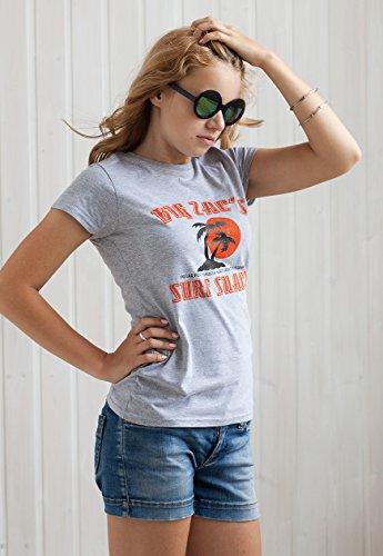 Retro T-Shirt de Surf-Big Zac's Surf cabane de plage-Surf Volkswagen California Vintage pour femmes T-Shirt pour femme