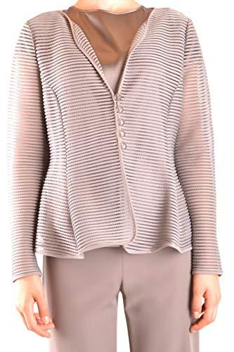 Armani Collezioni Women's Mcbi35726 Grey Polyamide Jacket