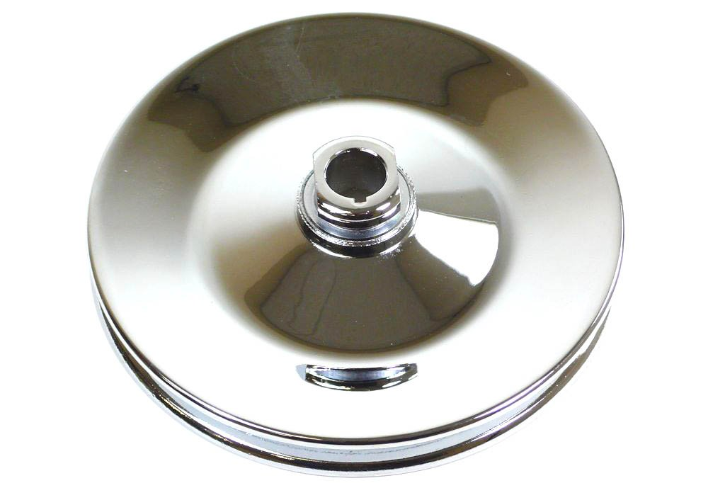 Racer Performance 1955-72 Chevy/GM Chrome Steel Key-Way Power Steering Pump Pulley - 1 Groove