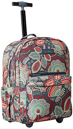 Vera Bradley Women's Lighten up Rolling Backpack, Nomadic Floral by Vera Bradley