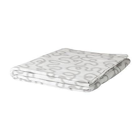 Ikea Fleece Throw White Gray By Ikea Amazon Co Uk Kitchen Home