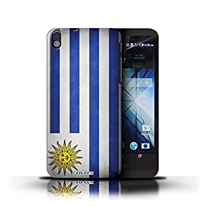 KOBALT? Protective Hard Back Phone Case / Cover for HTC Desire 816 | Uruguay/Uruguayan Design | Flags Collection