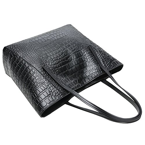Multicolor Crocodile Crossbody Leather Grain Women's Black Bag Shoulder Handbag nIwaa0