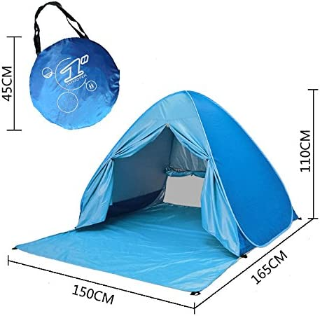 Eplze/® Automatic Pop Up Beach Tent Instant Portable Quick Cabana Sun Shelter for 2-3 Person