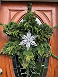 Ines Seasonal Wreaths Oregon Fresh Cut Snow Flake Christmas Wreath- Noble Fir, Ceder and Juniper Adorned with Pine Cones and Berries