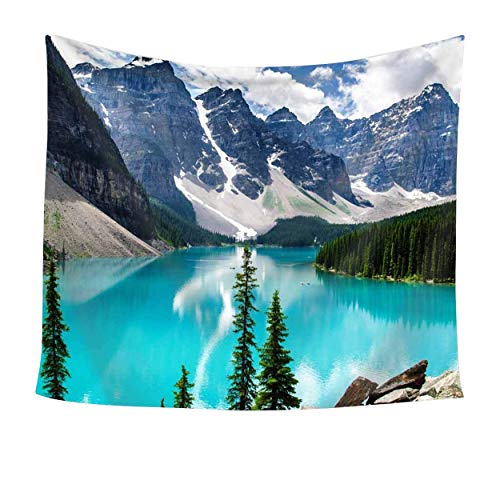 Sunset Forest Ocean and Mountains Wall Hanging Tapestry/Wall Hanging Decor, Art Nature Square Home Living Room Bedroom Decor Beach Towel/ Beach Carpet (59