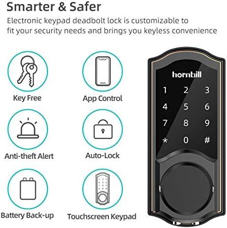 [2020 Newest Version] Keyless Entry Door Lock Deadbolt, Smart Lock Front Door, Electronic Door Locks with Keypads, Digital Auto Lock Bluetooth Smart Door Locks for Homes Bedroom 51gW6amRvtL