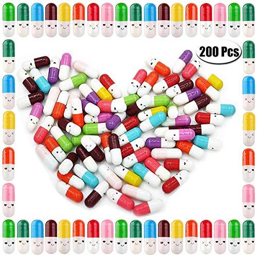 PartyYeah 200 Pcs Tiny Love Message Capsule Letter in a Bottle Cute Love Friendship Half Pill in Random Color