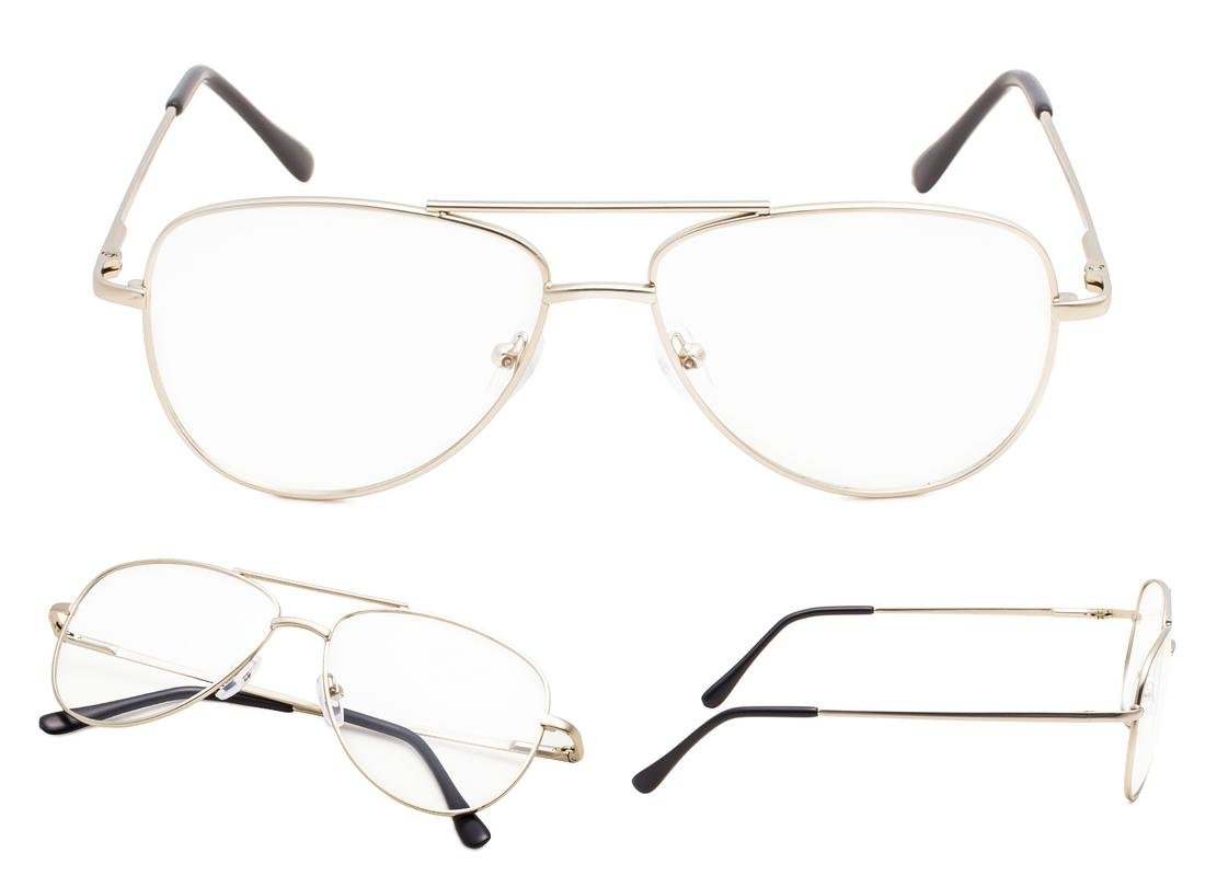 READING GLASSES 5 pack Pilot Style Small Frame Include Sun Readers +2.25