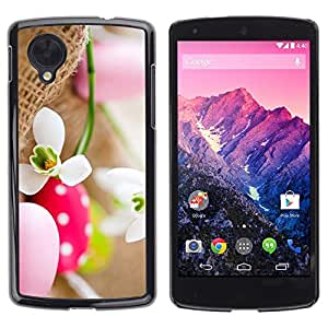 Be Good Phone Accessory // Dura Cáscara cubierta Protectora Caso Carcasa Funda de Protección para LG Google Nexus 5 D820 D821 // Egg Snow Flower Spring Nature