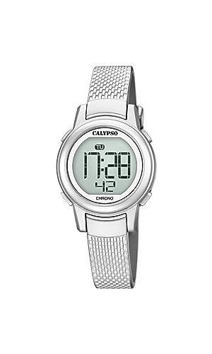 Calypso Reloj Digital para Mujer de Cuarzo con Correa en Plástico K5736/1: Amazon.es: Relojes