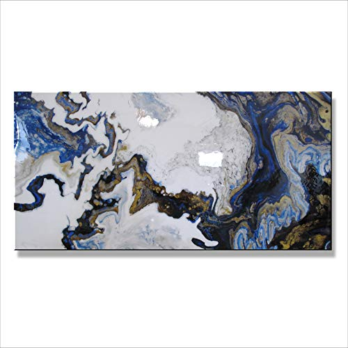Abstract Modern Canvas Painting, Contemporary Wall Art Limited Edition - 60 x 30 x 1.5 Ready to Hang. Resin Coated, High End Fine Art Direct from Studio Eloise World. -