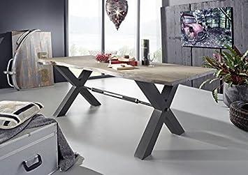 Entzuckend DE Esstisch Akazie 220x100x76 Grau Lackiert Black Label #117 Modern