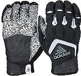 adidas Freak Max Padded Lineman Gloves, Black/White, 4X-Large