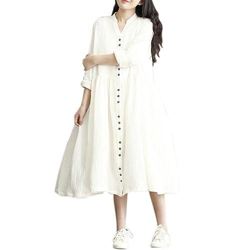 Balai Vestito maxi manicotto lungo della manica del vestito dalla camicia della maglietta felpata ca...