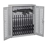 "Datum Storage AWC50H12R-2-WS23 Argos Hinged Door Weapons Cabinet Holds 12 Rifles & 3 Horizontal Rifles, 50"", Battleship Grey"