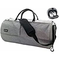 KEYNEW Canvas Travel Duffel Bag Water Resistant Sports Gym Luggage with Shoes Compartment
