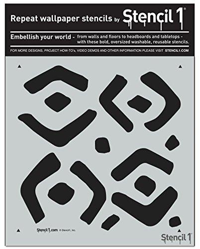 (Kuba Repeat Pattern Stencil 11