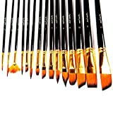 Compra Mont Marte 15pce Art Paint brushes set for Watercolor, Acrylic, Oil, Great for Artists & Kids en Usame