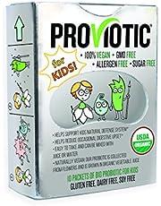 Purely Vegan Certified Organic Bio Proviotic for KIDS - 10 packets 100% Organic BORN IN FLOWER, GMO FREE, ALLERGEN FREE, SUGAR FREE