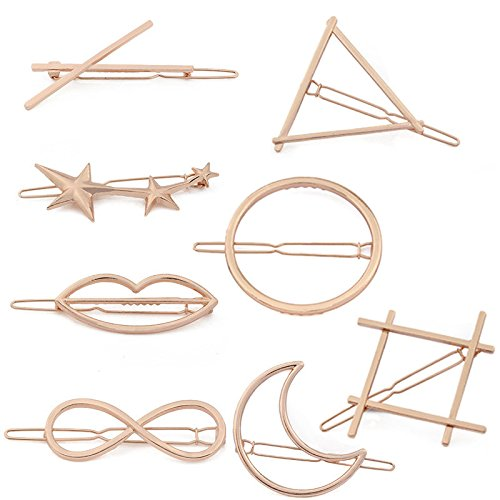 adecco-llc-8pcs-minimalist-dainty-rose-gold-hollow-geometric-metal-hairpin-hair-clip-clampscircle-tr