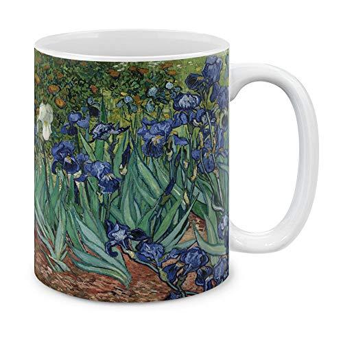 MUGBREW Classic Art Irises Vincent Van Gogh Ceramic Coffee Gift Mug Tea Cup, 11 OZ
