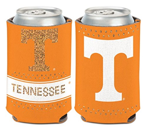 (NCAA University Tennessee Volunteers Bling 1 Pack 12 oz. 2-Sided Can Cooler )