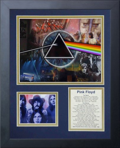 "Legends Never Die Pink Floyd Mosaic- English Rock Band Collectible | Framed Photo Collage Wall Art Decor - 12""x15"""