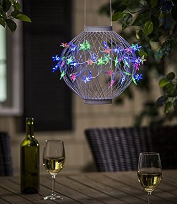 Evergreen Green Stars in the Sky Hanging Solar Lantern