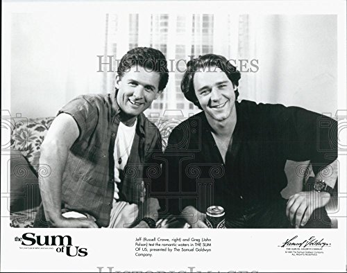 "1984 Demand Photo Actors Russell Crowe And John Polson In Film ""The Sum Of Us"""