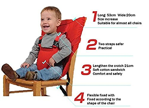 Monvecle Baby Portable Travel Chair Booster Safety Seat Cover Infant Harness Washable Sack Navy Blue by Monvecle (Image #7)
