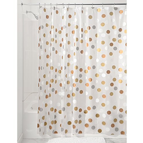 InterDesign Pvc Free Fabric Shower Curtain