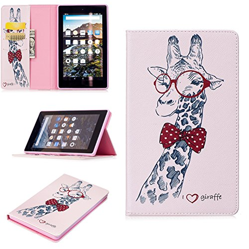 Anvas Kindle Fire 7 Case - Super Lightweight Slim Fit Standing PU Leather Cover with Auto Wake/Sleep Feature for Amazon Kindle Fire 7 7