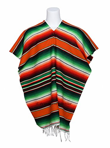 mexican-poncho-with-beautiful-saltillo-serape-colors-authentic-unisex-poncho-imported-from-mexico-is