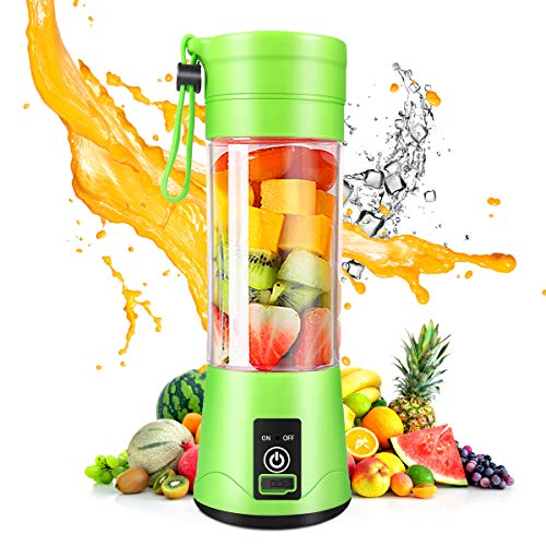 Portable Blender, Personal Mini Blender with 380ML for Smoothies and Shakes, USB Rechargeable Blender for Home, Kitchen…