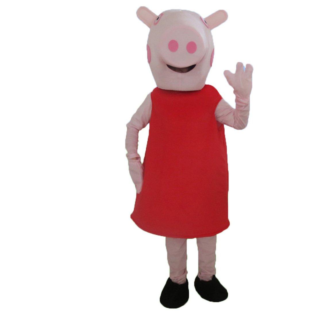 Alkem Unisex Peppa Pig Mascot Costume (Red)
