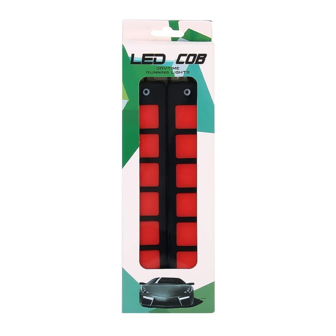 Car Bulbs 2 PCS DC 12V 7.4W Square Shape LED Daytime Running Lights Lamp COB LEDs Color : White Light