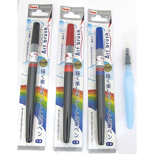 Pentel Brush Black Blue Suihitsu