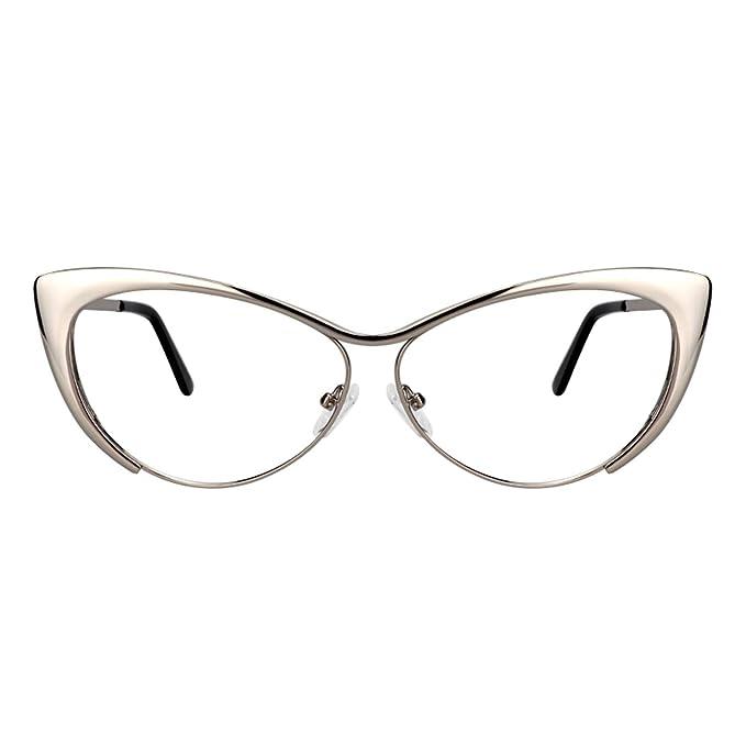 Amazon.com: Zeelool VFM0176 - Gafas de metal para mujer ...