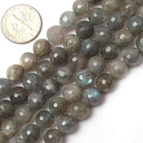 GEM-inside Labradorite Gemstone Loose Beads Natural 8mm Round Faceted Crystal Energy Stone Power For Jewelry Making 15