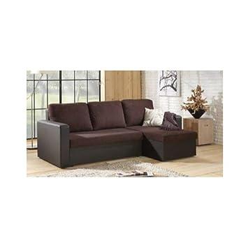 INSIDE Canapé d angle Convertible rapido Janus 140cm bi-matière ... e410d2f1a5c5