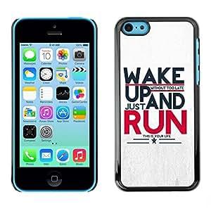 Be Good Phone Accessory // Dura Cáscara cubierta Protectora Caso Carcasa Funda de Protección para Apple Iphone 5C // Run Running Sports Motivational