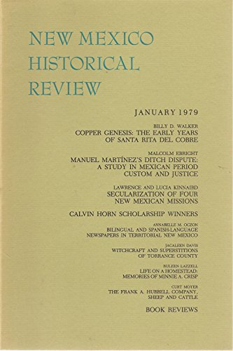 New Mexico Historical Review (Reprint) : January 1979 (Volume 54 Number 1)