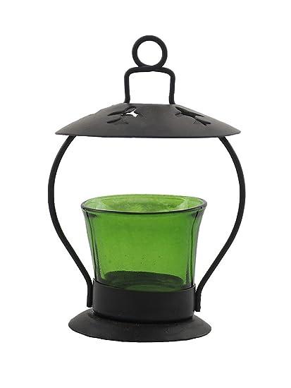 Glass Metal Votive Green By Kraft Seeds