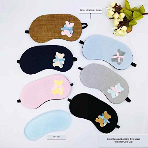 Hot & Cold Therapy Gel Eye Mask Sleep Mask, Good for Bedtime, Napping, Travel, Puffy Eyes & Dark Circles by YOLI® (Image #3)