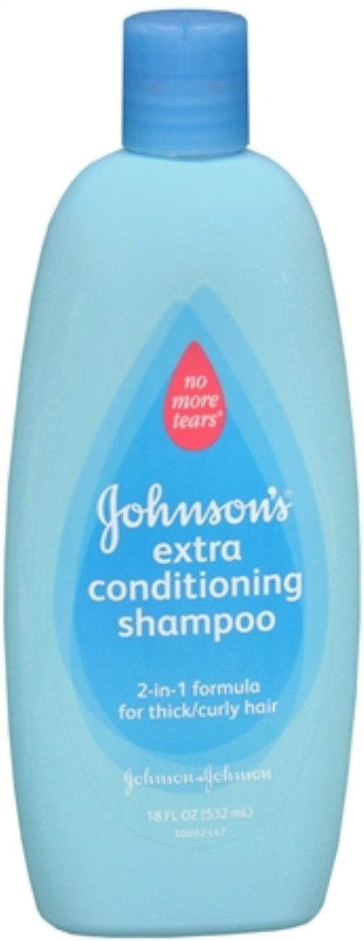 JOHNSON'S No More Tangles Shampoo + Conditioner Curly Hair 18 oz (12 Pack)