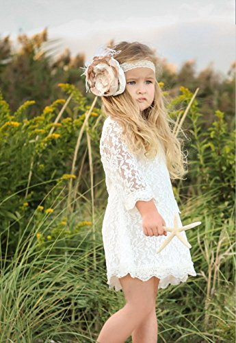 APRIL-GIRL-Flower-Girl-Dress-Lace-Dress-34-Sleeve-Dress