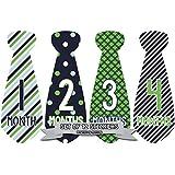 Months in Motion 703 Monthly Baby Stickers Necktie Tie...