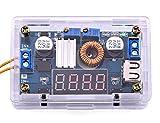 Yeeco DC DC Voltage Regulator 5-36V to 1.25-32V Buck Converter Step Down Power Supply Trandformer Constant Voltage & Current Adjustable Power Volt Stabilizer with Amp volt LED Display USB Output